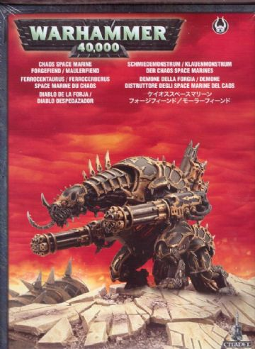 Games Workshop Warhammer 40000 40K Chaos Space Marine Forgefiend / Maulerfiend 43-14